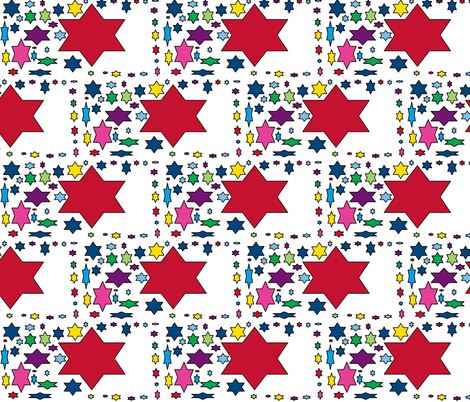 JamJax Starry Star fabric by jamjax on Spoonflower - custom fabric