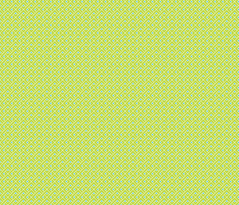 Basket Blocks (Lime / Aqua) fabric by happysewlucky on Spoonflower - custom fabric