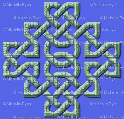 Celtic Knots in Knots - blue