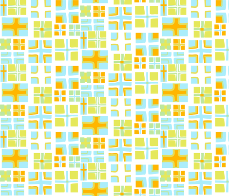 "CROSS in ""OCEAN & CITRUS""  fabric by trcreative on Spoonflower - custom fabric"