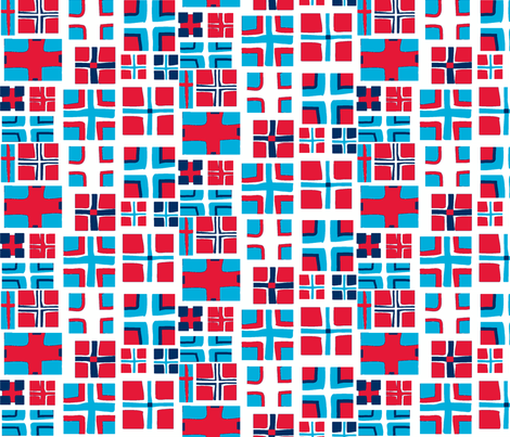CROSS in RED & NAVY fabric by trcreative on Spoonflower - custom fabric