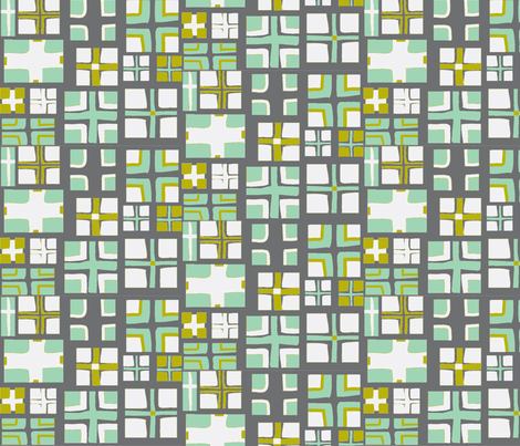 CROSS in STEEL & LAKE fabric by trcreative on Spoonflower - custom fabric