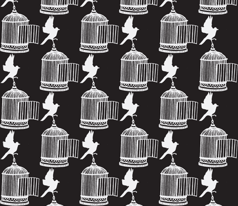 Birdcage fabric by littlebeardog on Spoonflower - custom fabric