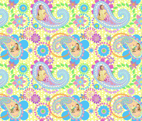 Happy Baby Paisley fabric by dentednj on Spoonflower - custom fabric