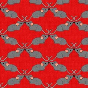 Mus Mustachius on Red