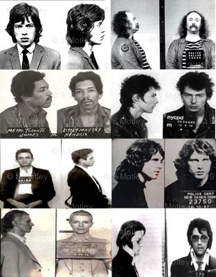 60's & 70's musician mugshots