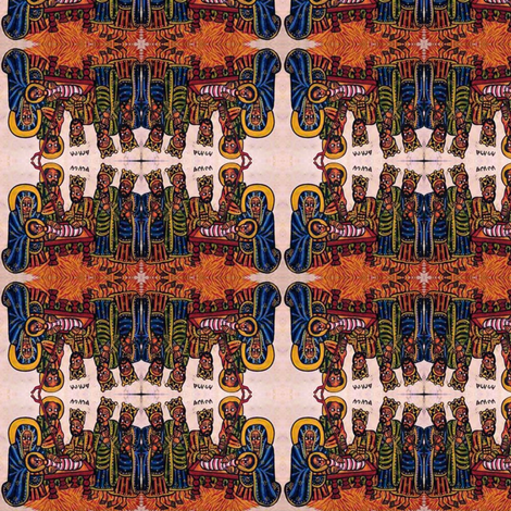 Ethiopian Nativity fabric fabric by wanganegresse on Spoonflower - custom fabric