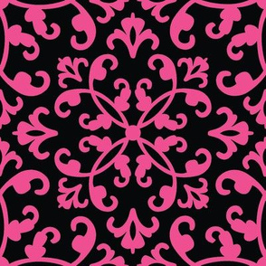 Contessa Damask - Magenta Cherry