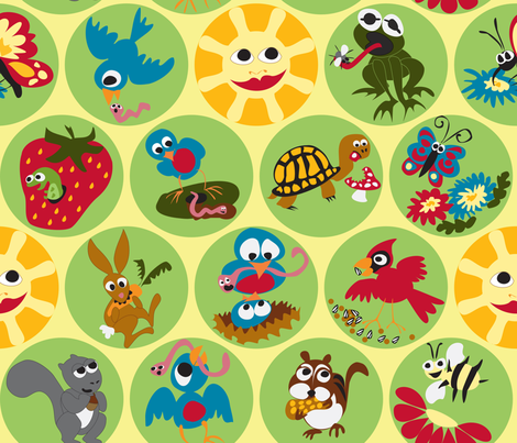 Early Bird & Co. Breakfast fabric by fussypants on Spoonflower - custom fabric