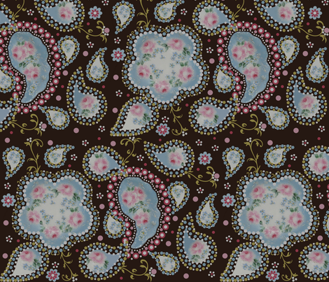 paisley_roses fabric by paragonstudios on Spoonflower - custom fabric