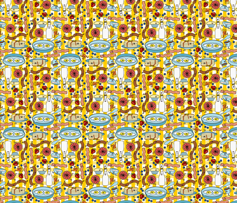 Party at 8AM fabric by thirdhalfstudios on Spoonflower - custom fabric