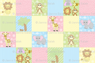 Baby Jungle Animals Print
