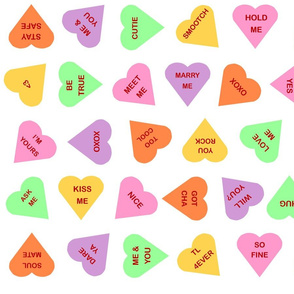 "StudioCherie Conversation Hearts for 56"" wide fabrics"