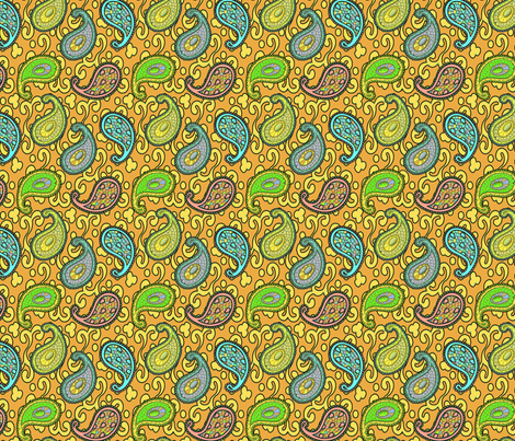 ©2011 paisley sean 3B fabric by glimmericks on Spoonflower - custom fabric