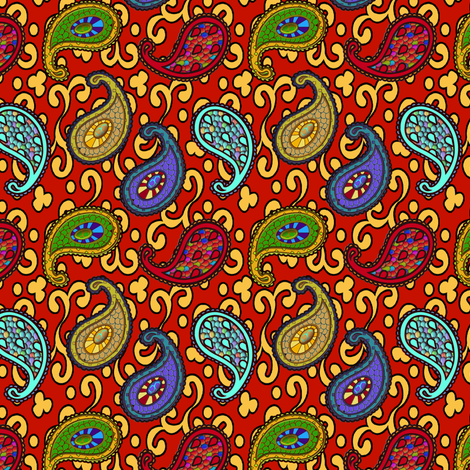 ©2011 paisley sean 3a fabric by glimmericks on Spoonflower - custom fabric