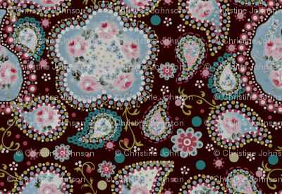 Coco rose paisley