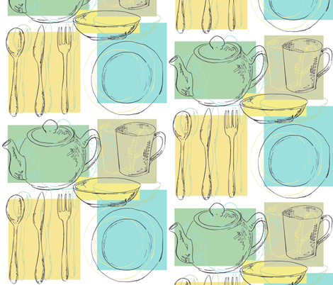 Breakfast Table fabric by woodledoo on Spoonflower - custom fabric