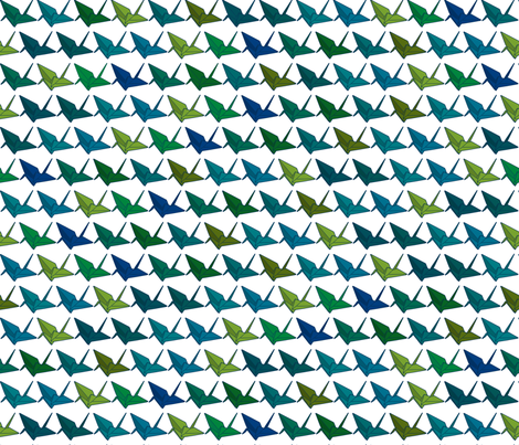Randomised Darker Cranes for Allison fabric by candyjoyce on Spoonflower - custom fabric