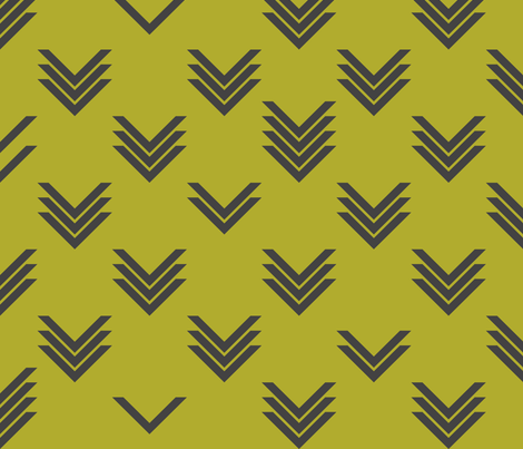 Varied Chevron Olive fabric by candyjoyce on Spoonflower - custom fabric