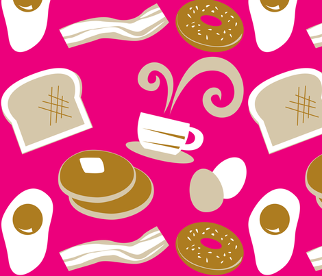 Breakfast on Tuesday fabric by malien00 on Spoonflower - custom fabric
