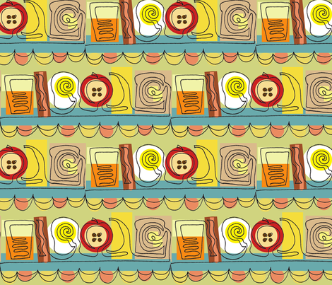 breakfast fabric by julievfoster on Spoonflower - custom fabric