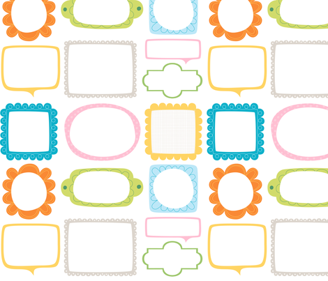 Bloomified Frames fabric by misstiina on Spoonflower - custom fabric