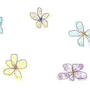 LG Whimsical Petals White