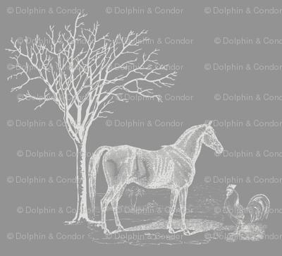Horse n Cock Grey