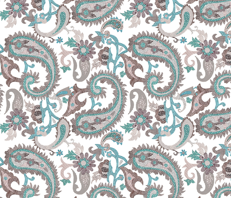 Security Paisley fabric by dna2011 on Spoonflower - custom fabric