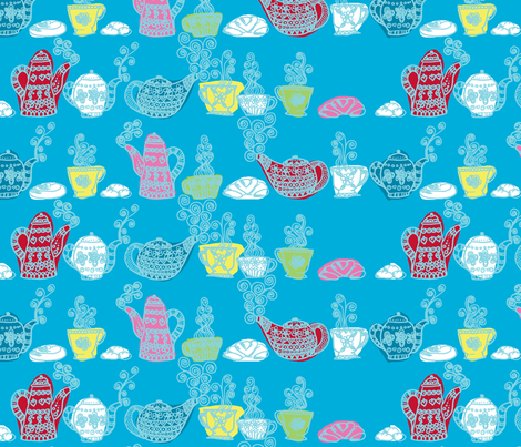 """petit déjeuner gourmand"" fabric by nadja_petremand on Spoonflower - custom fabric"