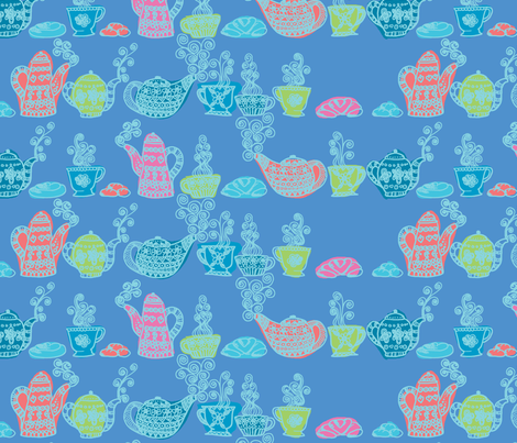 petit_déjeuné_gourmand_bleu_L fabric by nadja_petremand on Spoonflower - custom fabric