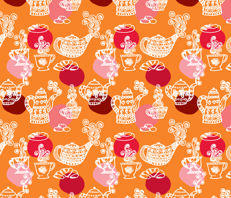 a_table_orange_L fabric by nadja_petremand on Spoonflower - custom fabric