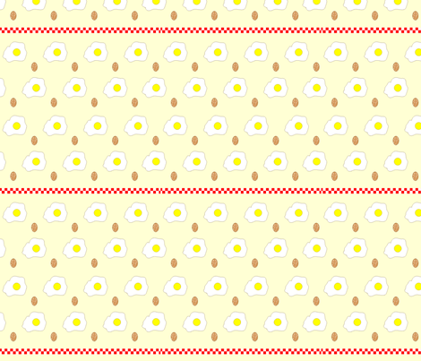 farmers breakfast (cream) fabric by melisse on Spoonflower - custom fabric