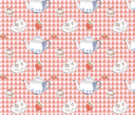 """kids"" illustration fabric by sketchtex on Spoonflower - custom fabric"