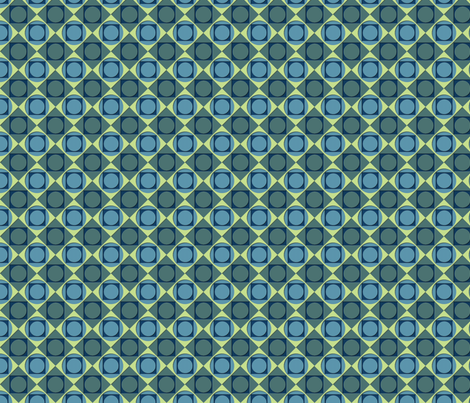 ©2011 blue green dotsquare fabric by glimmericks on Spoonflower - custom fabric
