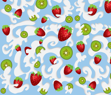 my milkshake brings all the boys to the yard fabric by p_kok on Spoonflower - custom fabric