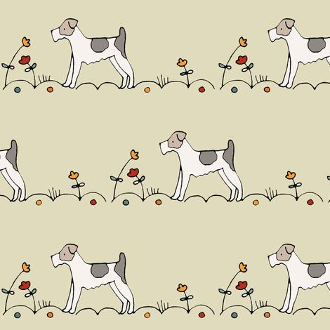 terrier fabric by housewrenstudio on Spoonflower - custom fabric