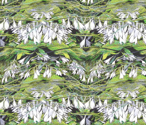 Hosta Black and White 2000 fabric by wren_leyland on Spoonflower - custom fabric