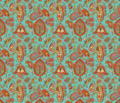 insect paisley fabric by katherinecodega on Spoonflower - custom fabric