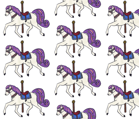 Carousel Horse fabric by robynowitz on Spoonflower - custom fabric
