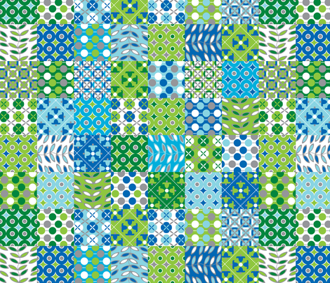 Oh, Boy! patchwork fabric by melaniesullivan on Spoonflower - custom fabric