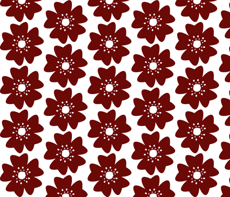 Single Cherry Blossom fabric by fussypants on Spoonflower - custom fabric