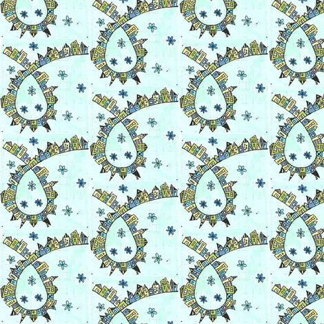 Loopy_Town fabric by orangesweater on Spoonflower - custom fabric