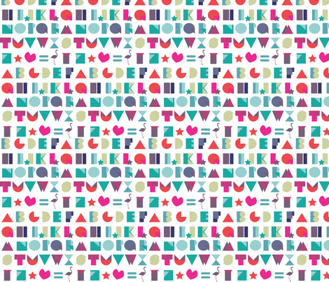 alphabets-ch fabric by flamingos on Spoonflower - custom fabric