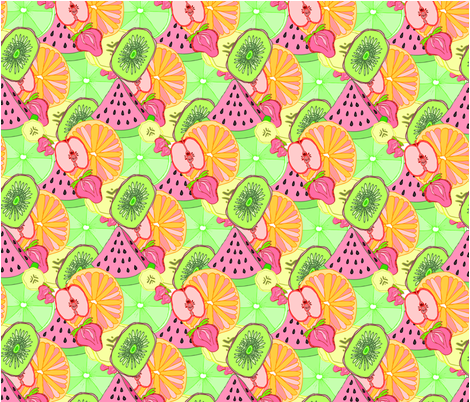 Breakfast Fruit Salad fabric by rachel_alice on Spoonflower - custom fabric
