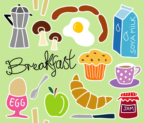 breakfast_pastel fabric by peppermintpatty on Spoonflower - custom fabric