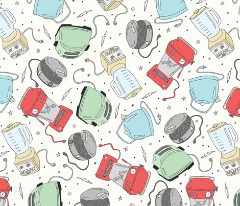 Breakfast Appliances fabric by babysisterrae on Spoonflower - custom fabric