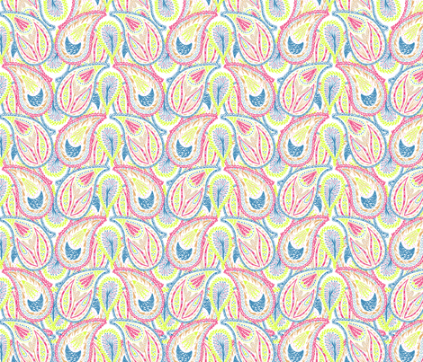 Rainbow Paisley fabric by rachel_alice on Spoonflower - custom fabric