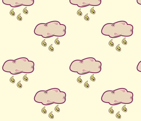 Paisley Rain fabric by featheredneststudio on Spoonflower - custom fabric