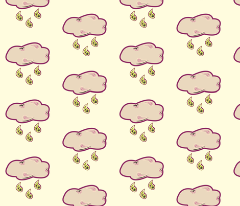 Paisley_Rain large scale fabric by featheredneststudio on Spoonflower - custom fabric